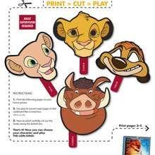 wild animals masks 5 - Kids Craft - MASKS crafts for kids - ANIMAL MASKS for kids to print and cut out