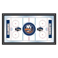 Trademark Global NHL New York Islanders Framed Hockey Rink Mirror - NHL1500-NYI
