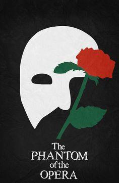 The Phantom of the Opera (2004) ~ Minimal Movie Poster by Begum Ozdemir #amusementphile