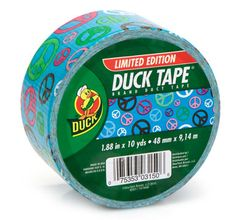 Peace Out Duck Tape® brand duct tape http://duckbrand.com/products/duck-tape?utm_campaign=color-duck-tape-general&utm_medium=social&utm_source=pinterest.com&utm_content=printed-duct-tape