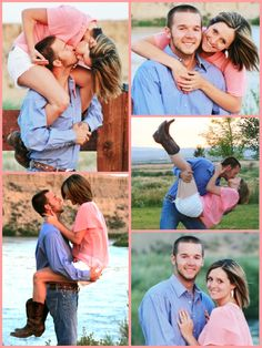 Engagement pictures! #coral #country
