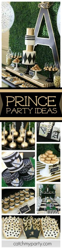 Take a look at this incredible medieval prince birthday party. The cookies and cupcakes are so cute! See more party ideas and share yours at CatchMyParty.com