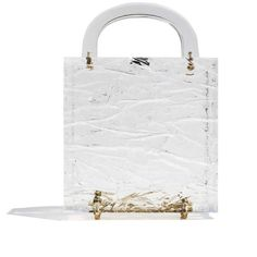 Leon Clear Crushed Ice Top Handle Clutch (14,495 MXN) ❤ liked on Polyvore featuring bags, handbags, clutches, clear handbags, top handle handbags, clear clutches, top handle purse and clear purses