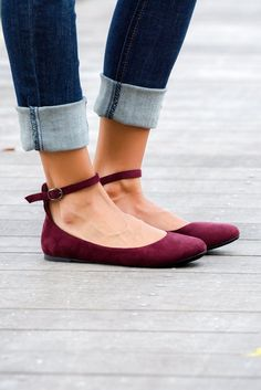 Burgundy Suede Ankle Strap Flats Shop Simply Me Boutique Shop SMB – Simply Me Boutique