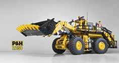 We're Going to Need a Bigger Bucket… Lego Technic Truck, Lego Truck, Lego Crane, Lego Building Sets, Lego Machines, Big Bucket, Lego Ship, Lego Construction, All Lego