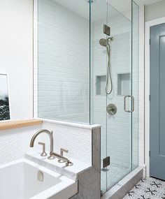 Liven up bathroom floors with on-trend tile warmed by in-floor heating installed. Neutral Bathroom, Bathroom Colors, Modern Bathroom, Large Bathrooms, Small Bathroom, Bathroom Cost, Attic Bathroom, Bathroom Ideas, Home Renovation