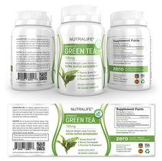 Green Tea Extract Supplement Label Template