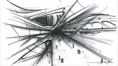 zaha hadid plantas arquitectonicas Great Buildings And Structures - Zorana De Mars Architecture Old, Futuristic Architecture, Sustainable Architecture, Architecture Quotes, Architecture Drawings, Zaha Hadid Interior, Zaha Hadid Architecture, Zaha Hadid Design, Conceptual Drawing