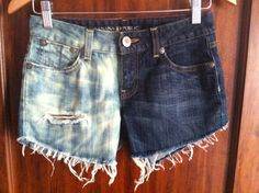 Half and Half Bleached Banana Republic Size 02P Distressed Shorts