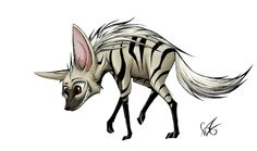 Striped Hyena by Dragongirl269