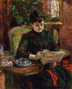 Madame Aline Gibert, 1887 Henri de Toulouse-Lautrec - by genre - portrait Henri De Toulouse Lautrec, Henri Matisse, Renoir, Maurice Utrillo, Oil Canvas, Oil Painting Reproductions, Manet, French Artists, Famous Artists