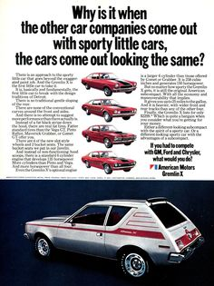 1971 Gremlin. I actually owned one or did it own me? Money in, money in.