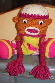 Monkey Mütze <3 mit Wackelaugen <3 Rid, Crochet Hats, Facebook, Handmade, Shopping, Fashion, Breien, Knitting Hats, Moda