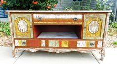 upcycled painted furniture by booth 121