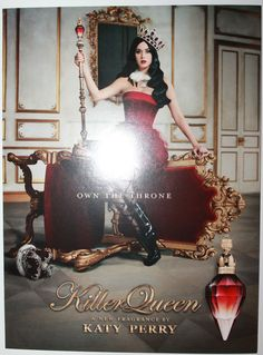 Katy Perry Killer Queen Large 14  x 10.25  Advertising Pillow Card Very RARE