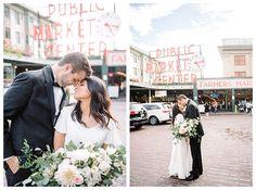 Pike Place Wedding Photos by Seattle photographer Brooke Bakken  | Seattle Temple Wedding | Tyee Yacht Club Wedding Reception | LDS Temple Marriage | Washington State | Destination Wedding | Brooke Bakken Photography | Wedding Inspiration | Spring | Pike Place Market