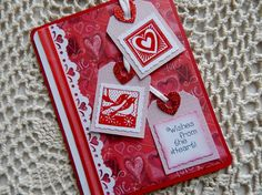 Wishes from the heart in red Valentines by balsampondsdesign