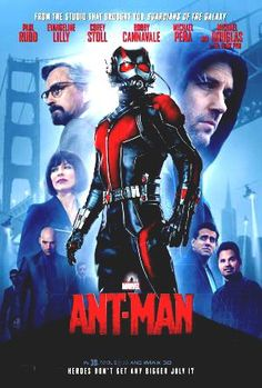Marvel Studios Ant-Man One Sheet Double Sided Theatrical Movie Poster Evangeline Lilly, Paul Rudd, Corey Stoll, Em Breve Nos Cinemas, Ant Man Suit, Ant Man 2015, Marvel Cinematic Universe Movies, Adam Ant, Disney Films