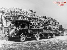 autotreno con carico di sedie 1950 Manzano, Udine, Italy   #TuscanyAgriturismoGiratola