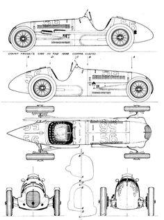 Maserati 8CTF Blueprint