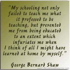 Great quotes on unschooling, homeschooling, self-education & life learning!