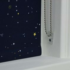 BuyBloc Fabric Changer Blackout Roller Blind, Blue Night Sky, W91cm Online at johnlewis.com