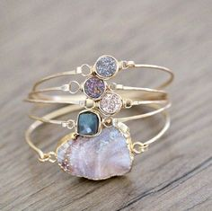The prettiest handmade jewelry you'll ever see. gemstones and druzy by Saressa Designs