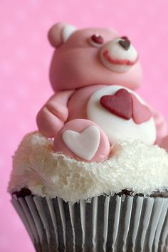 Care Bear on a Cloud Cupcake by Bakerella, via Flickr
