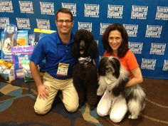 Rick Rockhill with Sheldon Gryffindor, and Diane Silver with Cosmo. Great pals at #BlogPaws