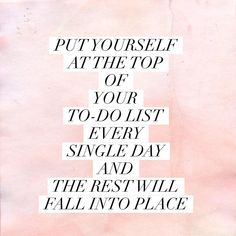 Put yourself first by putting Christ first