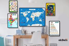 Here is how you can stay ahead and make empty spaces in your homes learning spaces for your kids. #Posters #Kids #Parenting