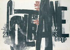 Vintage Original John Coltrane Concert Poster by Günther Kieser, First Printing, Musikhalle, [Hamburg], Germany, Nov. 25, 1962, produced by Kurt Collien
