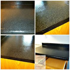 DIY - Rustoleum Countertop Transformations {this is in onyx - but use the Charcoal color