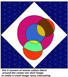 sample block for tee shirt quilt--layouts and tips