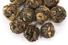 From Yunnan, China, this black tea version of the popular, hand-rolled Dragon Pearl style is naturally sweet and smooth. A touch of earthiness and subtle cocoa notes. We suggest using 2-3 Dragon Pearls per cup for a sublime tea drinking experience. Only $6