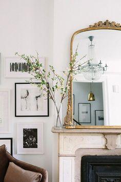 Parisian Apartment Decor Secrets To Steal For A Chic Home Living Room Inspiration, Interior Design Inspiration, Home Decor Inspiration, Decor Ideas, Decorating Ideas, Design Ideas, Wall Ideas, Design Trends, Mirror Ideas