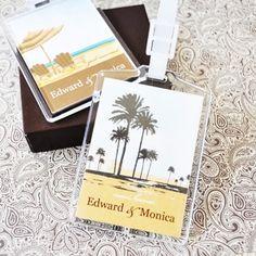 elite design personalized acrylic luggage tags bridal shower favorswedding