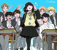 BTS em anime e fanart (parte Bts Chibi, Foto Bts, Bts Photo, Yoonmin, Bts Suga, Bts Bangtan Boy, Flipagram Video, Bts Anime, Fanart Bts
