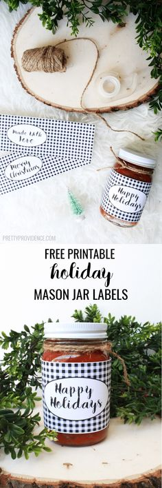Printable Mason Jar Labels from Pretty Providence for Bake Craft Sew Decorate