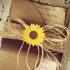Sample Sunflower rustic high end handmade by MemoryMakersDesigns, $6.00
