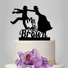 Funny Silhouette Wedding Cake Topper with Boy Bride and Groom Cake Topper walldecal76 http://www.amazon.com/dp/B00XWD1SDU/ref=cm_sw_r_pi_dp_jaFxvb11TEYV1