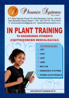 InPlant Training in Chennai for asp.net courses Greetings from Phoenix Systems,Chennai. IMPORTANCE OF IMPL .. http://chennai.adeex.in/inplant-training-in-chennai-for-asp-net-courses-1-id-1168232