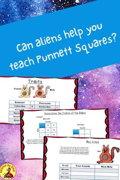 Science Labs, Science Resources, Interactive Activities, Reading Resources, Color Activities, Science Lessons, Interactive Notebooks, Punnett Square Activity, Science Clipart