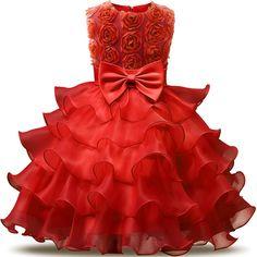 Flower Girl Dress For 3-8 Years Girls