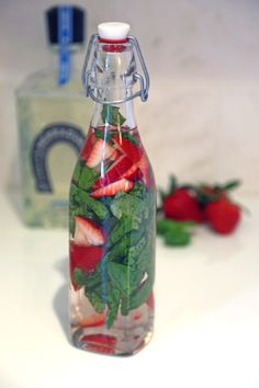 This one is definitely next!  Infusing tequila with basil  strawberries