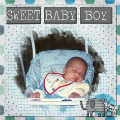 A picture of my son as a baby.      Kit used: Sus Designs's Sweet Valentino available at http://scraptakeout.com/shoppe/Sweet-Valentino.html