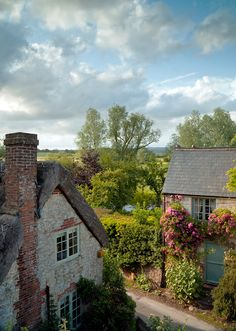 Amberley in West Sussex, which is a magical little village with the most picturesque cottages.