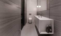 | BATHROOMS | LOVE THE WORK of talented creatives tamizo architects group.  Image Credit: tamizo architects group  Seriously covet their innovative ways of looking at volumes of space, their attention to detail is by far, some of the best out there ... I want to pin every single image on their website, so many beautiful interiors. Love the way they colour block a space with material finishes and their clever use of mirror / glass flush detailing #bathrooms #tamizoarchitectsgroup