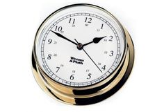 Weems & Plath Endurance Collection 125 Quartz Clock (Chrome) by Weems & Plath. Brass Instrument, Weather Instruments, Desktop Clock, Tabletop Clocks, Nautical Gifts, Clock Movements, Beveled Glass, O Ring, Battery Operated