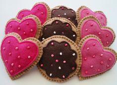 Día decoraciones fieltro galletas galletas por GingerSweetCrafts